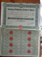 1925 - SOCIETE DES VERRERIES D' EXTREME ORIENT - Industrie