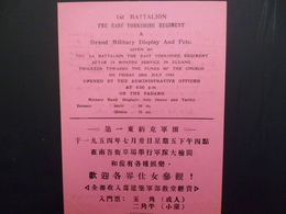 """1954 RAF Malaya Campaign East Yorks Rgt. Air Drop """"Grand Military Display And Fete"""" Leaflet. Kluang, Johore - Documents"""