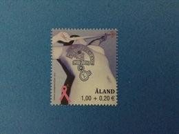 2012 ALAND FRANCOBOLLO NUOVO STAMP NEW MNH** LOTTA CONTRO IL CANCRO DEL SENO - Aland