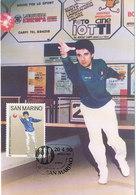 D35086 CARTE MAXIMUM CARD 1990 ITALY - SPORTS BOCCE CP ORIGINAL - Stamps