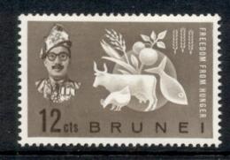 Brunei 1963 FFH Freedom From Hunger MLH - Brunei (1984-...)