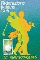 D35087 CARTE MAXIMUM CARD TRIPLE FD 1988 ITALY - GOLF CP ORIGINAL - Golf