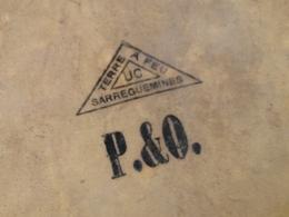 Rare Terrine XIXème De La Peninsular And Oriental Steam Navigation Company (P&O) Terre à Feu UC (Utzschneider ET Compagn - Ceramics & Pottery