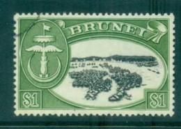 Brunei 1970 River Kampong $1 Perf 13 FU Lot82320 - Brunei (1984-...)