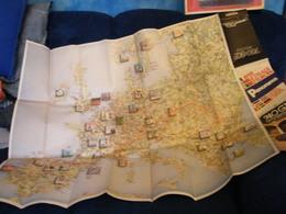 MONDOSORPRESA, (LB20) MAPPA CARTINA STRADALE  D' EUROPA - PANORAMA - TOURING 1984 - Carte Topografiche