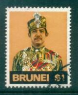 Brunei 1974 Sultan Hassanal Bolkiah $1 FU Lot82345 - Brunei (1984-...)