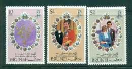 Brunei 1981 Charles & Diana Wedding MUH Lot44805 - Brunei (1984-...)