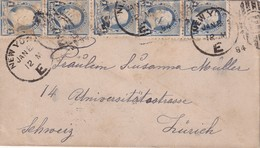 USA 1894 LETTRE DE NEW YORK POUR ZURICH - 1847-99 Unionsausgaben