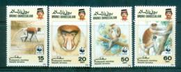 Brunei 1991 WWF Proboscis Monkey MUH Lot64018 - Brunei (1984-...)