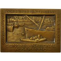 Algeria, Médaille, Congrès National Du Commerce Exterieur, Alger, 1930, SUP - Tokens & Medals