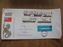 S011: GPO FIRST DAY COVER BRITISH SHIPS 15/01/1969 Manchester. 5d, 3 X 9d & 2 X 1/-d - FDC