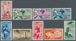 Ägäische Inseln: 1934, Fußball-Weltmeisterschaft In Italien Kompletter Satz Mit Aufdruck 'ISOLE ITAL - Aegean