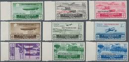 Ägäische Inseln: 1935, Airmail & Zeppelin Overprint Set From Sheet Margin Completely Mint, (Sassone - Aegean