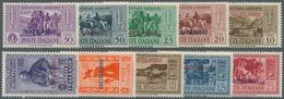 Ägäische Inseln - Kastellorizo: 1932, Garibaldi Complete Set Of Ten With 'CASTELROSSO' Opt., Mint Ne - Castelrosso