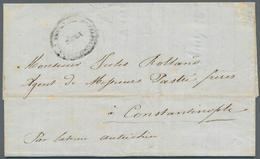 Ägäische Inseln - Besonderheiten: 1855. Stampless Envelope Addressed To Constantinople Cancelled By - Aegean