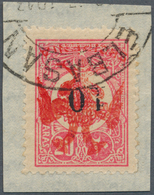 Albanien: 1913, Double Headed Eagle Overprints, 10pa. On 20pa. Rose With INVERTED Eagle Overprint In - Albania