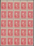 Albanien: 1925, Definitive Issue 'Achmed Zogu' 10q. Carmine With Scarce Perf. 11½ Block Of 25 From U - Albania