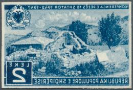 Albanien: 1947, Konferenz Von Peza 2 L. Als Ungezähntes FOTOESSAY In Blau (Farbe Des 2.50 L.-Wertes) - Albania