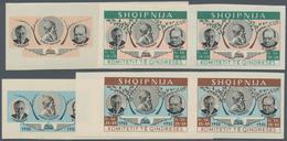 Albanien: 1952. KOMITETIT TE QINDRESES. Set Of 8 Values In Horizontal Pairs As Two-phased Progressiv - Albania