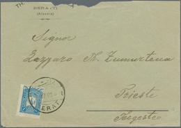 Albanien - Stempel: 1907, Ottoman Empire, 1 Pia Blue, Tied By Bilingual Dater BERAT, 17.7.07, Single - Albania