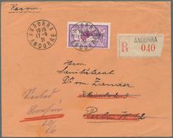 """Andorra - Französische Post: 1931, Postage Stamps Of France With Overprint """"ANDORRE"""", 3 Fr, On Regis - Other"""