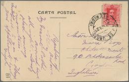 "Andorra - Spanische Post: 1925, FORERUNNER: Ppc ""Vallée Andorre Las Escaldas"" With Sender's Note ""Re - Spanish Andorra"