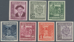 Andorra - Spanische Post: 1948, National Symbols, 20 C To 1.35 Pta, MNH, Imperforated. ÷ 1948, Freim - Spanish Andorra