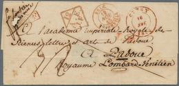 Belgien - Vorphilatelie: 1845, Folded Letter Cover With Red Cds CINEY, 16 NOV.1845, Along With Red D - Belgium