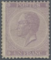 Belgien: 1865 König Leopold I. 1 Fr. Hellviolett, Gez. 14, Ungebraucht Mit Originalgummi Und Falzspu - Belgium
