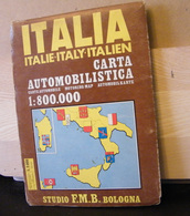 MONDOSORPRESA, (LB20) MAPPA AUTOMOBILISTICA ITALIA 1971 - Carte Topografiche