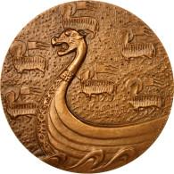 France, Médaille, Chambre De Commerce De Rouen, Coeffin, SPL, Bronze - Other