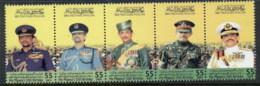 Brunei 2001 Sultan Bolkiah 55th Birthday Str4 MUH - Brunei (1984-...)