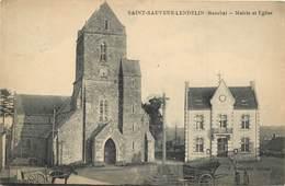 SAINT SAUVEUR LENDELIN - Mairie Et église. - Frankrijk