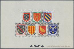 "Frankreich: 1954, Definitves ""Coat Of Arms"", Bloc Speciaux, Unmounted Mint (slight Unobstrusive Impe - France"