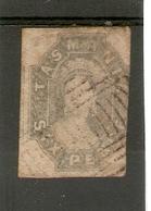 TASMANIA 1860 6d DULL SLATE - GREY SG 44 FINE USED Cat £85 - 1853-1912 Tasmania