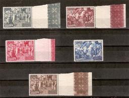 (Fb).Vaticano.1951.Calcedonia (149/153).Serie Cpl. Di 5 Val Nuovi SPL (112,50),gomma Integra,MNH (347-15) - Vatican