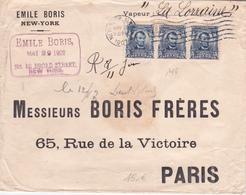 """Lettre - Etats-Unis - 1907 - """"Emile Boris - New-York""""  - Cacheté à La Cire - Vereinigte Staaten"""