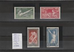 183 à 186**         Jeux Olympiques De Paris  ( 1924 ) Neuf Gomme D'origine - France