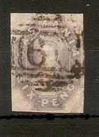 TASMANIA 1863 6d GREY - VIOLET SG 46 FINE USED Cat £85 - 1853-1912 Tasmania