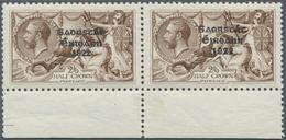 Irland: 1927, Soarstat Overprints, 2s.6d. Brown, Bottom Marginal Horiz. Pair (folded And Slightly Se - Covers & Documents