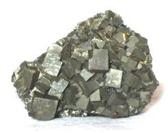 614 - PIRITE XX CUBICI - ISOLA D'ELBA Dimensioni Mm. 50x40x40 Peso Gr 180 - Minerals