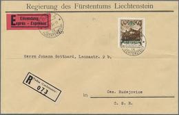 Liechtenstein - Dienstmarken: 1932, 1,20 Fr Schwarzockerbraun, Gezähnt L 10 1/2, Portogerechte Einze - Official