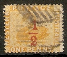 WESTERN AUSTRALIA 1884 ½d On 1d SG 89 PERF 14 FINE USED Cat £45 - Used Stamps