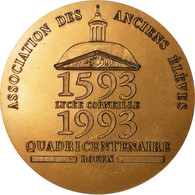 France, Médaille, Quadricentenaire Du Lycée Corneille, Rouen, 1993, FDC - Other