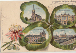 SOUVENIR DE BETTEMBOURG      LITHO 4 VUES - Bettembourg