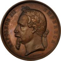 France, Médaille, Napoléon III, Amélioration De La Seine, 1864, Merley, SUP - Other