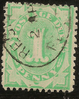AUSTRALIA 1906 1d Postage Due Inv Wmk SG D46a U #AOG13 - Postage Due