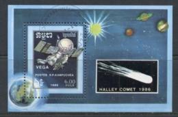 Cambodia 1986 Halley's Comet MS CTO - Cambodia