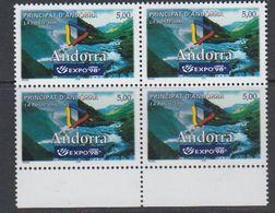 Andorra Fr 1998 Expo '98 Lisbon1v Bl Of 4 ** Mnh (40652B) - Frans-Andorra
