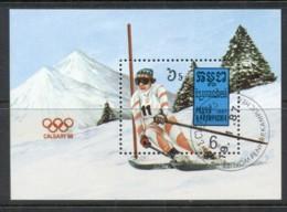 Cambodia 1987 Winter Olympics Calgary MS CTO - Cambodia